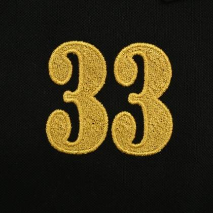 RCB POLO CLUB LADIES TEE SOLID-BLACK NUMBER 33 RFTS10205 00Q