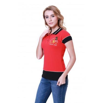 RCB POLO CLUB LADIES TEE DESIGN RED RFTS10658