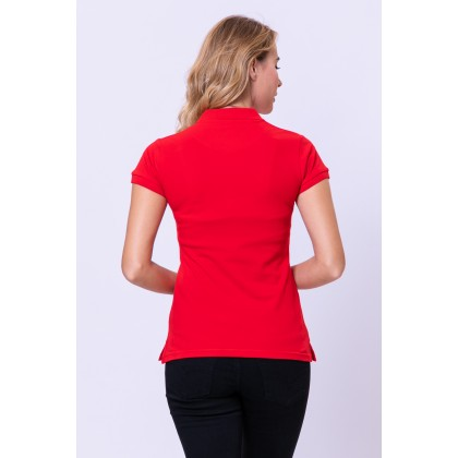 RCB POLO CLUB LADIES TEE SOLID RED RFTS10686 00H