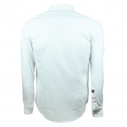 RCB POLO CLUB MEN LONG SLEEVE PLAIN WHITE RMLSA10065 OOP