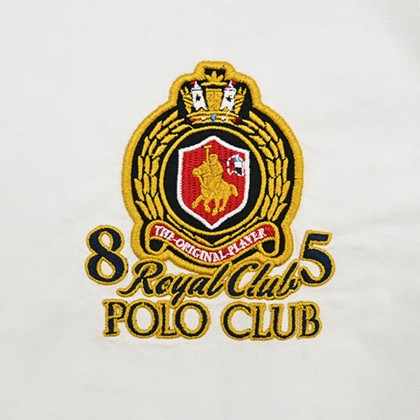 RCB POLO CLUB MEN LONG SLEEVE WHITE RMLSM10003 OOP
