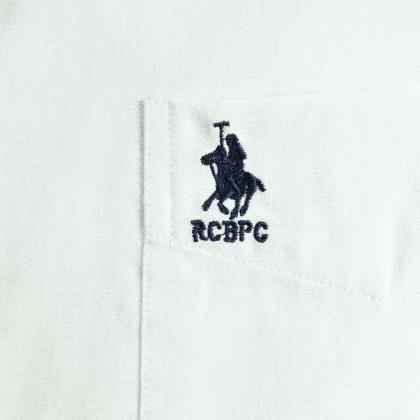 RCB POLO CLUB MENS SHORT SLEEVE PLAIN WHITE RMSSA10066 OOP