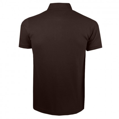 RCB POLO CLUB MEN POLO TEE SOLID-BROWN NUMBER 3 RMTS10719-50 ON4
