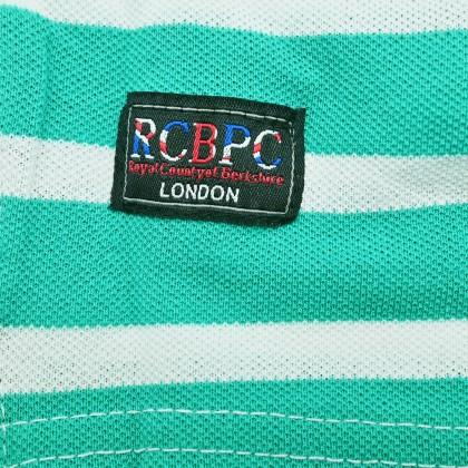 RCB POLO CLUB LADIES TEE DESIGN GREEN STRIPE RFTS001-SB - OG1