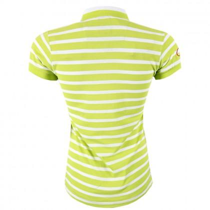 RCB Polo Club Ladies Tee Design - Light Green Stripe RFTS001-SB - OG4